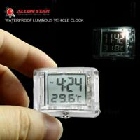 Motorcycle Luminous Clock Car Motorbike Thermometer Bicycle F1Y8 Temp Watch S1Q9