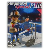 Playmobil Fireman with Fire Hoses Special Plus 4795 NEW NO BOX