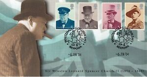 6 JUNE 2004 CHURCHILL SCOTT COMMEMORATIVE COVER NEXPOWA LONDON SW1 SHS