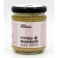 CREMA DI MANDORLE PURA 100% BIO - 180g - Spalmabile Gourmet Sicilia