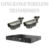 Long Distance Wireless Transmit 2,500 FT Security Cameras NightVision To 120Ft