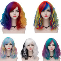 Lolita Fashion Halloween Curly Ombre Heat Resistant 35CM Multi-Color Cosplay Wig