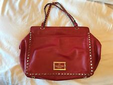 Valentino Rockstud Medium Tote  red Leather - pre owned