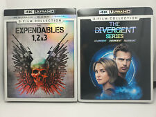 The Expendables 1-3 4K+Blu-ray+Digital+Slip Cover & Divergent Series (3x 4K set)