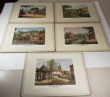 Set of 5 Pimpernel Made in England English Villages Table Place Mats Cork Back