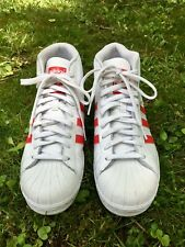 competitive price 11231 6954e Adidas Pro Mode White High Top Size 8 Mens