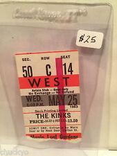 The Kinks Concert Ticket Stub 5-25-1983 Toronto Maple Leaf Gardens - Rare
