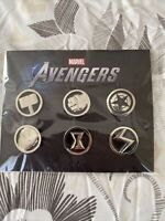 Marvel Avengers Video Game Lapel Promo Pin Set Gamestop