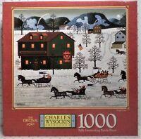 NEW SEALED Charles Wysocki SLEIGH RACE 1000 Piece Jigsaw Puzzle