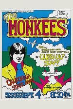 1960's Rock: The Monkees at Sacramento California Concert Poster 1969