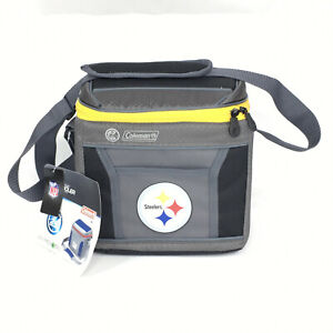 Coleman NFL 9-Can 24-Hour Soft-Sided Cooler Lunch Bag Pittsburgh Steelers
