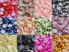 6mm Flat Back Acrylic Half Round Faux Pearl Beads ~ 5,000 pcs