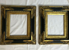 Lot of 2 Beautiful 8X10 Black-Gold Vintage Baroque Wooden Gesso Floral Frame