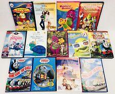 (13) Childrens Learning DVD Lot: Barney Thomas Train Shrek Disney Baby Einstein