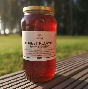 Runny Forest flower Honey 1.4kg ORGANIC PURE RAW NATURAL Unpasteurized Wild 2020