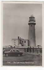 The Lighthouse Flamborough Yorkshire Vintage RP Postcard
