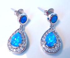 Unbranded Opal Butterfly Fastening Pear Costume Earrings