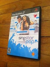 Play Station 2 Game Video used SINGSTAR POP Sing Star Singing Music Fun Family