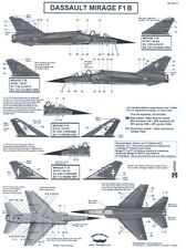 Berna Decals 1/48 DASSAULT MIRAGE F1 B French Jet Fighter Part 1