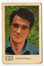 1960s Swedish Film Star Card Star Bilder A #137 US American actor Rock Hudson