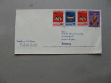 BURMA MYANMAR, cover to Germany, mixed franking, musicinstruments ao drum