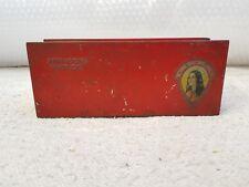 1930's VINTAGE SCARCE ATKINSON HAIR OIL-LADIES PRINT ADV. LITHO TIN BOX, ENGLAND