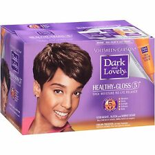 Dark and Lovely Healthy Gloss 5 Shea Moisture No-Lye Relaxer Color Treated Hair