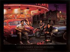 LEGENDARY CROSSROADS PRINT CHRIS CONSANI Elvis Monroe James Dean 24x32 poster