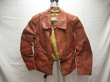 Vintage Chess King Leather Rayon Size 40 Jacket Very Rare Made in Colombia