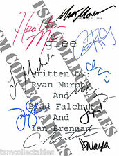 GLEE autographed script Cory MONTEITH Naya RIVERA Santana signed Jane Lynch