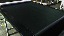 "Marine Vinyl Fabric Auto 5 Yards Classic Black Outdoor Boat Car Upholstery 54"" W"