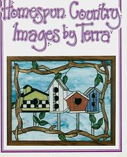 Home Spun Country Images Stained Glass Pattern Book, Panels and Ornaments