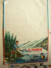 Affiche  Bottes LE CHAMEAU  Pêche au lancer Truite Années 50 / 60 Poster Fishing