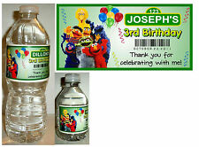 20 SESAME STREET BIRTHDAY FAVORS WATER BOTTLE LABELS ~ Glossy ~ Waterproof
