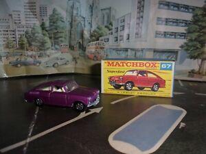 Matchbox Lesney Superfast VOLKSWAGEN 1600TL - 67 rare F box