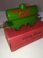 "VINTAGE HORNBY ""0""GAUGE MODEL OIL TANK WAGON ""CASTROL"" RS672 - NEAR MINT BOXED"