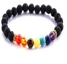 7 Chakra Crystal Stones Bracelet. Healing Beads Jewellery. Mala Reiki Anxiety