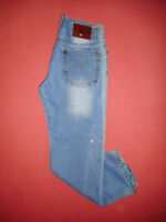 AJ Armani - W38 L33 - Mens Blue Denim Jeans - Button-Fly - X222