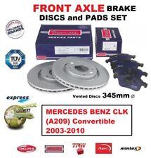 FOR MERCEDES BENZ CLK A209 Convertible 2003-2010 FRONT BRAKE PADS + DISCS 345mm