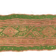 2m (6 foot) LONG Old Antique India SARI Saree TRIM Embroidered Textile 652m9