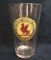 Guinness Extra Stout Beer Glass Rare Cockatrice Logo T.F Ashe & Nephew LIverpool