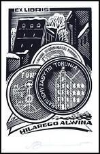 Leonenko Vasyl 1992 Exlibris X3 Architecture Numismatics Coins Munzen Toruń 484