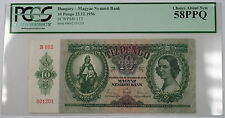 1936 Hungary Magyar Nemzeti Bank 10 Pengo Note SCWPM# 113 PCGS 58 PPQ Choice