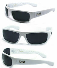 MEN GANGSTER BLACK OG SUNGLASSES LOCS BIKER GLASSES USA WHITE FRAME UV400