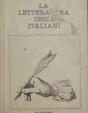 LA LETTERATURA DEGLI ITALIANI Giuseppe Petronio Volume 4 Età Giolittiana Guerre