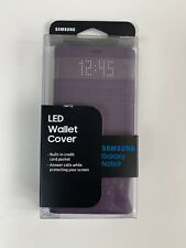 Genuine Original LED Wallet Cover for Samsung Galaxy Note9  Lavender Purple