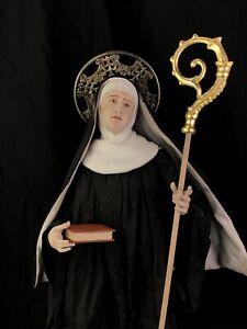 Santa scolastica da Norcia 50 cm Saint Santon Santo Arte sacra monache benedetti