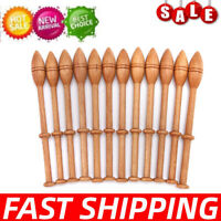 12Pcs Lace Bobbin Wooden Vintage French Artisan Craft Turned Wood Weaving Tools