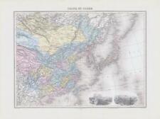 More details for 1892  large colour antique map of chine et corÉe china & korea peking (nai/46)
