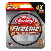 Berkley Fireline Ultra 8 Carrier Smoke / Green Assorted Sizes Fishing Braid